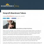 Boardsource Taboos